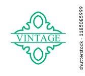 flourishes calligraphic art... | Shutterstock .eps vector #1185085999