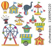 kids birthday party invitation... | Shutterstock .eps vector #1185090220