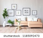 idea of a white scandinavian... | Shutterstock . vector #1185092473