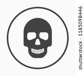 skull monochrome icon. vector... | Shutterstock .eps vector #1185098446