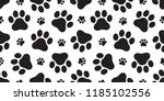 dog paw seamless pattern vector ... | Shutterstock .eps vector #1185102556