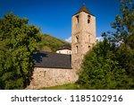 belfry and church of sant joan... | Shutterstock . vector #1185102916