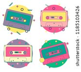 Vector Set Of Bright Cassettes...