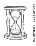 hourglass illustration  drawing ... | Shutterstock .eps vector #1185104089