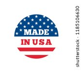 made in usa badge with usa flag ... | Shutterstock .eps vector #1185106630