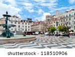 rossio square with fountain... | Shutterstock . vector #118510906