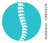 spine diagnosis blue | Shutterstock .eps vector #1185116176