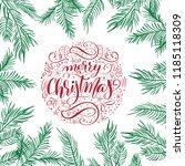 merry christmas vector text... | Shutterstock .eps vector #1185118309