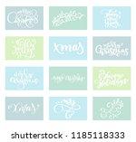 set merry christmas vector text ... | Shutterstock .eps vector #1185118333