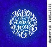 happy new year vector text... | Shutterstock .eps vector #1185118336