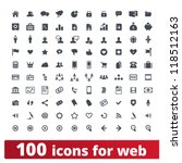web icons. vector set of 100...