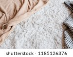 soft furry fabric background.... | Shutterstock . vector #1185126376