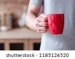 traditional morning hot... | Shutterstock . vector #1185126520