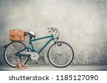 retro bicycle from circa 90s...   Shutterstock . vector #1185127090