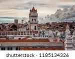 bell tower and kupola of san... | Shutterstock . vector #1185134326