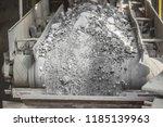 cement factory. conveyor with... | Shutterstock . vector #1185139963