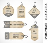 vector stickers  price tag ... | Shutterstock .eps vector #1185157216