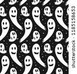 seamless halloween pattern for... | Shutterstock .eps vector #1185158653