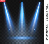 spotlights with bright lights... | Shutterstock .eps vector #1185167563