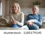 happy senior middle aged couple ... | Shutterstock . vector #1185179140