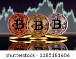 physical version of bitcoin ... | Shutterstock . vector #1185181606