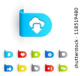 Labels Set Ii Icon Set In Eps...