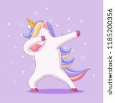 cute animal doing dabbing | Shutterstock .eps vector #1185200356