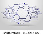 technology background with... | Shutterstock .eps vector #1185214129