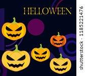 halloween pumpkin vector... | Shutterstock .eps vector #1185221476