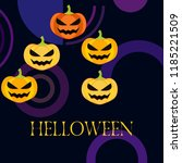 halloween pumpkin vector... | Shutterstock .eps vector #1185221509