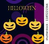halloween pumpkin vector... | Shutterstock .eps vector #1185221566