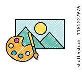 graphic design palette color... | Shutterstock .eps vector #1185222976