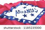 3d render  realistic wavy flag... | Shutterstock . vector #1185235000