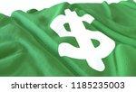 3d render  realistic wavy flag... | Shutterstock . vector #1185235003