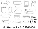 simple speech bubbles and...   Shutterstock .eps vector #1185241000