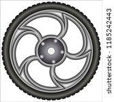 aluminum alloy wheels    Shutterstock .eps vector #1185242443