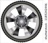 aluminum alloy wheels    Shutterstock .eps vector #1185242446