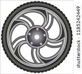 aluminum alloy wheels    Shutterstock .eps vector #1185242449