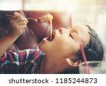 Children Girl Enjoy Eating...