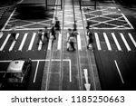 pedestrians crossing the street ... | Shutterstock . vector #1185250663