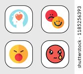 simple modern set of  emotions... | Shutterstock .eps vector #1185256393