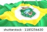 3d render  realistic wavy flag... | Shutterstock . vector #1185256630