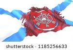3d render  realistic wavy flag... | Shutterstock . vector #1185256633