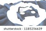 3d render  realistic wavy flag... | Shutterstock . vector #1185256639