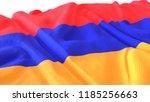 3d render  realistic wavy flag... | Shutterstock . vector #1185256663