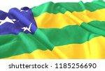 3d render  realistic wavy flag... | Shutterstock . vector #1185256690