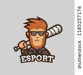 bad ape gamer esport logo... | Shutterstock .eps vector #1185257176