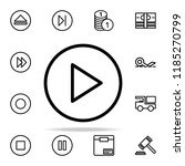 sign for play in a circle icon. ...