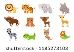 vector illustrations cute... | Shutterstock .eps vector #1185273103