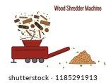 wood shredder machine used for... | Shutterstock .eps vector #1185291913